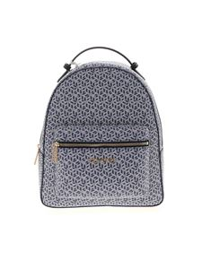 Tommy Hilfiger - Monogram backpack in blue and white