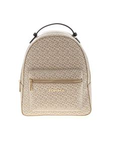 Tommy Hilfiger - Monogram backpack in beige and white