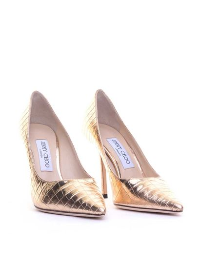 Jimmy Choo - Love 100 pumps in gold color