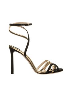 Jimmy Choo - Wrap around sandals in Black and Gold