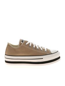 Converse - Ctas Layer Bottom Ox sneakers in Khaki