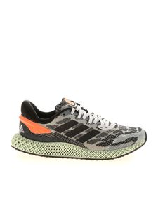 Adidas - 4D Run 1.0 sneakers in white and black