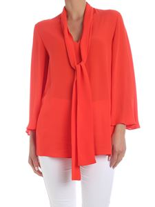 Valentino - Tie-neck blouse in red silk