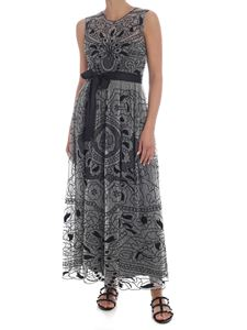 Red Valentino - Long sleeveless dress in black