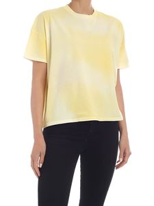 Moncler - Logo T-shirt in faded yellow