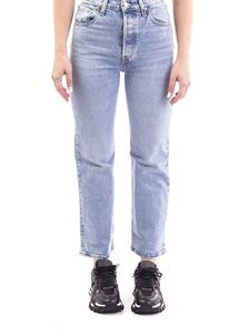 Levi's - 5 pocket cropped faded jeans