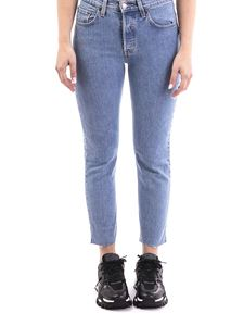 Levi's - 501 Original cropped faded jeans