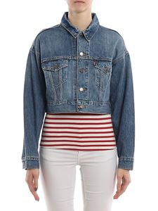 Levi's - Faded denim cropped oversized jacket
