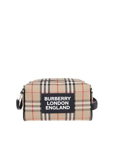 Burberry - Vintage check beauty case in Archive beige