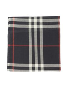 Burberry - Check print scarf in Navy color