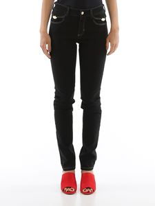 Versace Jeans Couture - Stretch skinny jeans in black