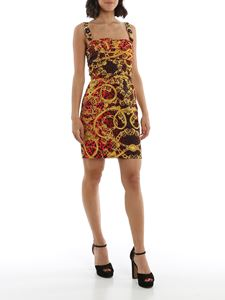 Versace Jeans Couture - Leo Baroque printed dress in red