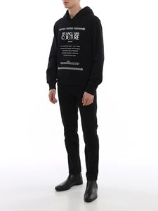 Versace Jeans Couture - Etichetta hoodie in black