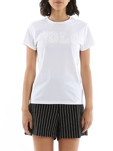 POLO Ralph Lauren - Beaded embroidery logo T-shirt in white