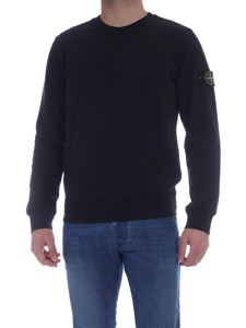 Stone Island - Logo patch crewneck sweatshirt in black