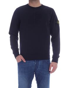 Stone Island - Zipped sweatshirt in blue