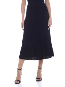 Michael Kors - Pleated midi skirt in black