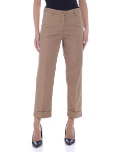 Woolrich - Pants with turned-up bottom in camel color