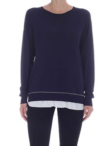Peserico - Micro beads embellished sweater in blue