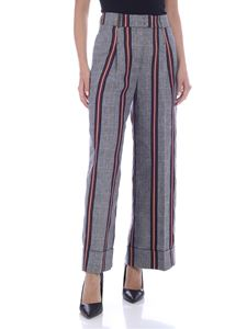 Peserico - Prince of Wales check pants in blue