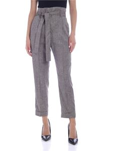 Peserico - High waist twill pants in brown