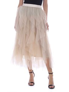 Peserico - Tulle skirt in ivory color