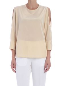 Peserico - Open shoulders blouse in nude color