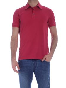 Ballantyne - Three-button polo shirt in cherry red