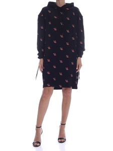 McQ Alexander Mcqueen - Sweatshirt dress with swallows print in black