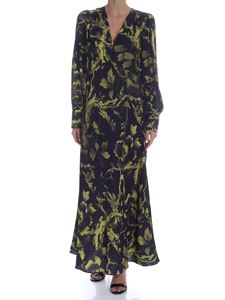 McQ Alexander Mcqueen - Dress with leaf print in black