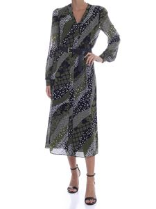 Michael Kors - Long printed dress in black and green