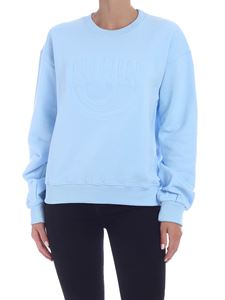 Chiara Ferragni - Sweatshirt with Eye logo in light blue