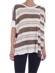 Woolrich - Oversized striped knit T-shirt