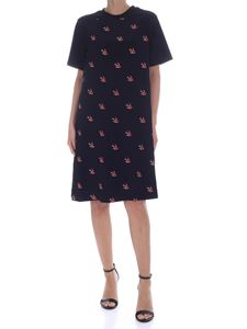 McQ Alexander Mcqueen - Knee-length dress with swallow print in black