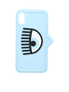 Chiara Ferragni - I Phone X/XS Eyelike cover in light blue