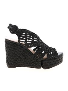 Paloma Barceló - Munal wedges in black