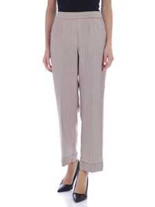 Peserico - Striped pants in brown