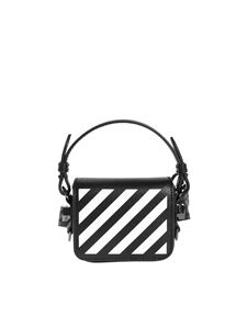 Off-White - Diag Baby Flap bag in black