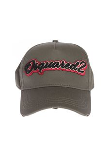 Dsquared2 - Patch logo baseball cap in army green