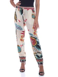 Red Valentino - Printed silk pants