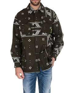 MSGM - Bandana print jacket in dark green