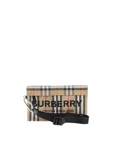 Burberry - Lettering pouch in Archive Beige