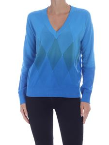 Ballantyne - Diamond pullover in turquoise color
