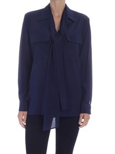 Ballantyne - Lapels and patch pockets shirt in blue