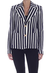 Ballantyne - Striped jacket in blue and white