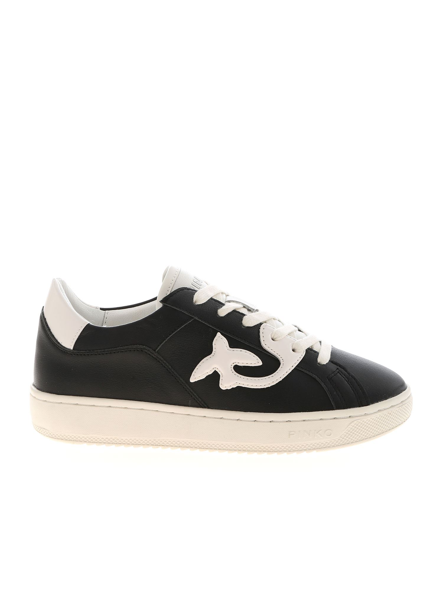 Pinko PINKO LIQUIRIZIA SNEAKERS IN BLACK AND WHITE