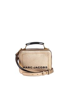 Marc Jacobs  - The Metallic Textured Mini Box Bag in gold color