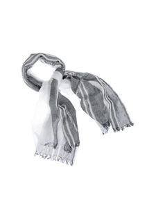 Peserico - Scarf in grey and white