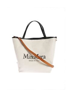 Max Mara - Plagem 2 bag maxi logo in ivory color