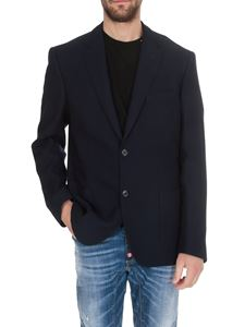 Fay - Single-breasted unlined jacket in blue